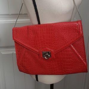 White House Black Market Red Leather Shoulder Bag